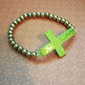 Jewelry - Beaded Cross Bracelet
